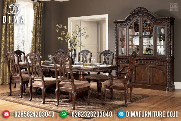 Jual Meja Makan Mewah Jati Klasik Perhutani Natural Best Collection ST-1111