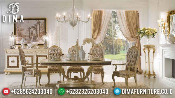Jual Meja Makan Mewah Ukiran Klasik Luxury Design Mebel Jepara Terbaru ST-1119