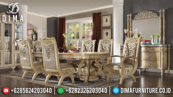 Jual Set Meja Makan Mewah Ukir Jepara Luxury Model Great Quality ST-1157