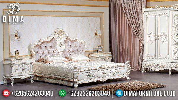 Jual Set Tempat Tidur Mewah Luxury Carving Elite Style Great White Duco ST-1146