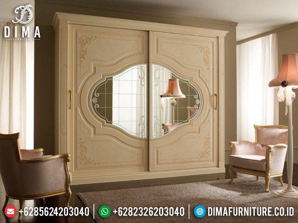 Lemari Pakaian Minimalis Kaca 2 Pintu Luxury Furniture Jepara Best Sale ST-1094