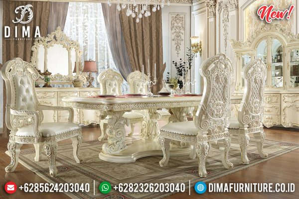 Meja Makan Mewah Jepara Classic Luxury Design Majestic Imperial Style ST-1118