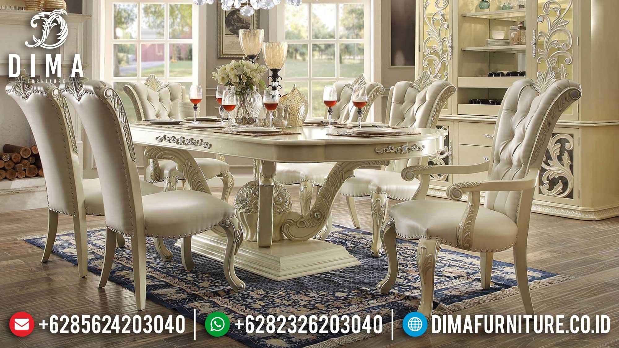 Meja Makan Mewah Terbaru Luxury Carving Classic Free Ongkir Jawa Bali ST-1124
