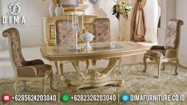 Meja Makan Mewah Ukiran Jepara Luxury Carving Perfect Color Combiantion ST-1121