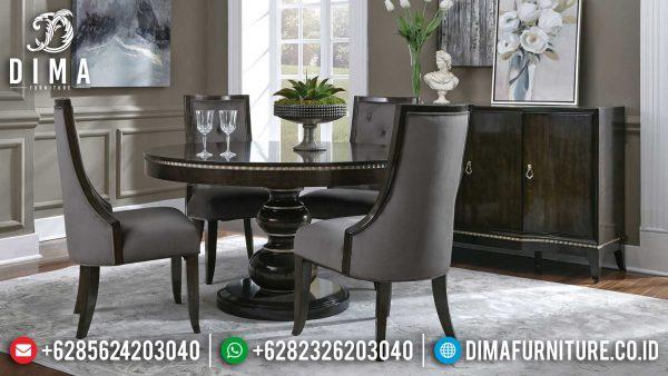 Meja Makan Minimalis Bundar Jepara Great Quality Furniture Jepara Terpercaya ST-1130