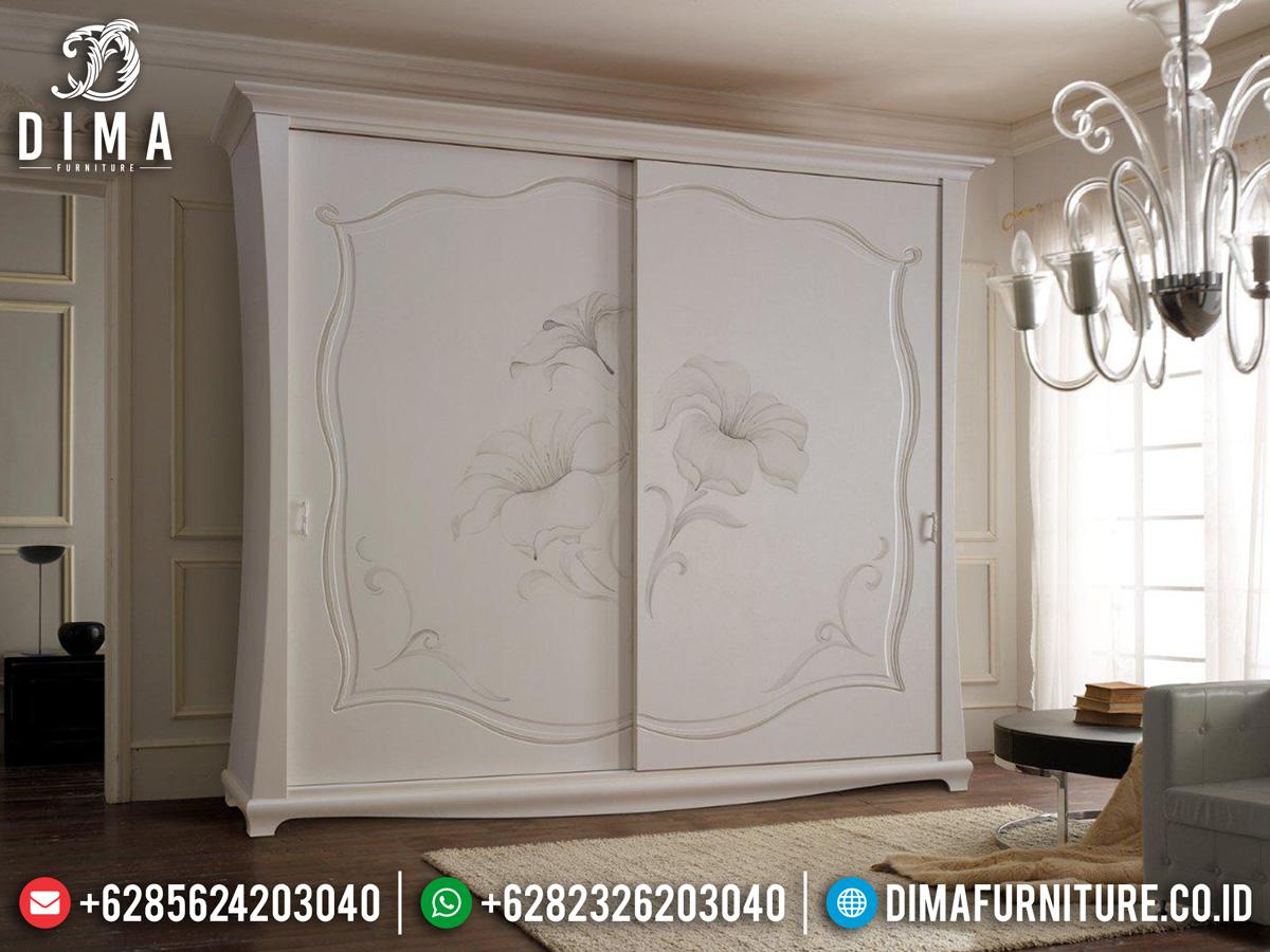 Model Lemari Pakaian Mewah Putih Duco Luxury Great Solid Wood Perhutani ST-1090