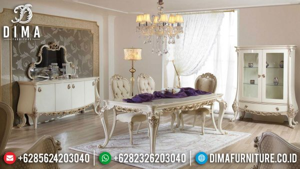 Model Meja Makan Mewah Ukir Luxury Carving Popular Item Furniture Jepara ST-1160