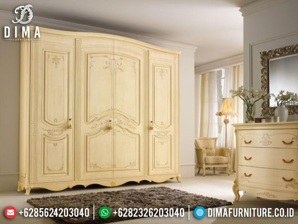 New Lemari Pakaian Jepara Mewah Luxury Design Terbaru ST-1085