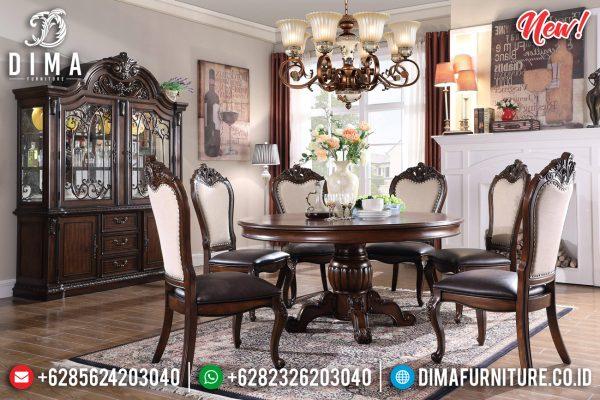 New Model Meja Makan Jati Jepara Klasik Dining Room Sets Inspiring Interior ST-1117