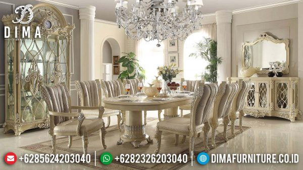 Alena Set Meja Makan Mewah Ukir Jepara Best Design Product Furniture Jepara ST-1257