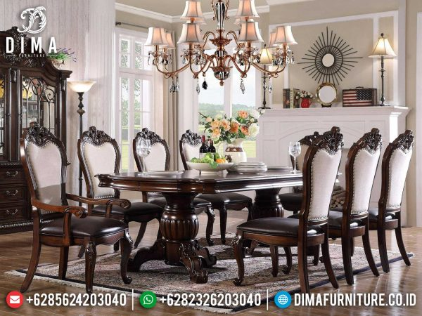 Auburn Color Meja Makan Minimalis Terbaru Natural Classic Furniture Jepara ST-1233