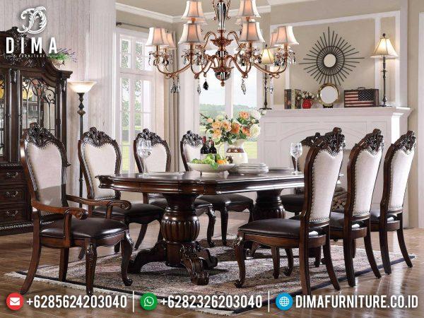Auburn Color Meja Makan Minimalis Terbaru Natural Classic Furniture Jepara ST-1233