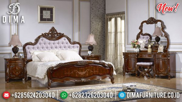 Best Item Kamar Set Mewah Natural Jati Luxury With Marquetry Roses Motif ST-1174