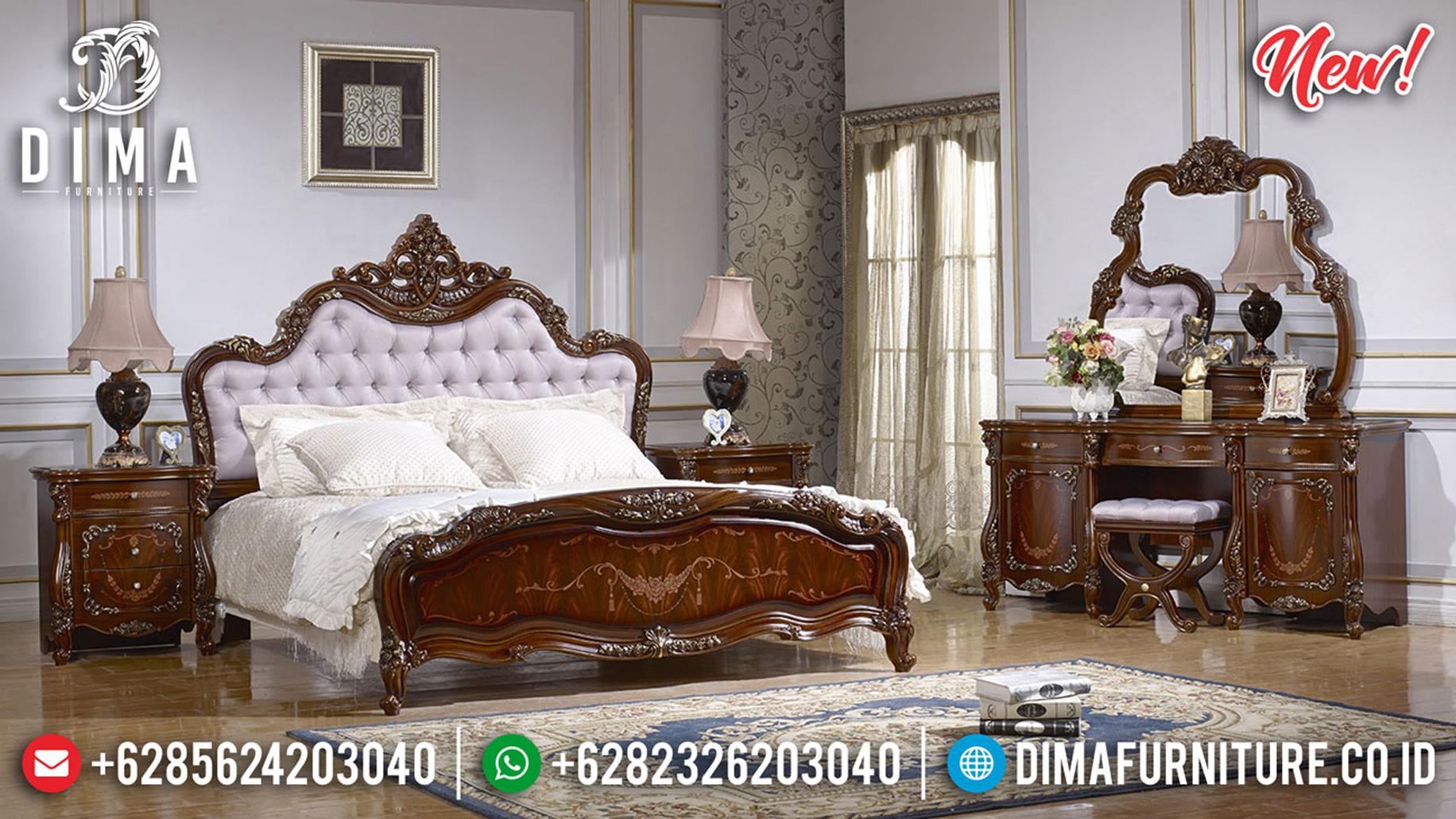Best Item Kamar Set Mewah Natural Jati Luxury With Marquetry Roses Motif ST-1174