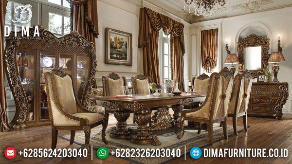 Best Sale Meja Makan Mewah Giardino Luxury Carving New Furniture Jepara ST-1249