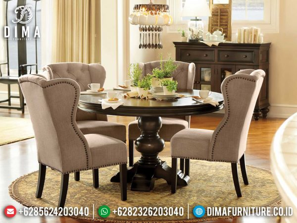 Big Sale Meja Makan Minimalis Bundar Furniture Jepara Terbaru 2021 ST-1234