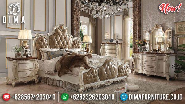 Buy Now Set Tempat Tidur Mewah Putih Duco Luxury High Quality Product ST-1180
