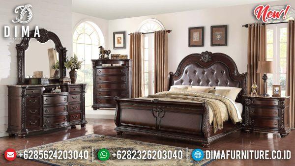 Desain Tempat Tidur Minimalis Jati Jepara Classic Best Collection ST-1184