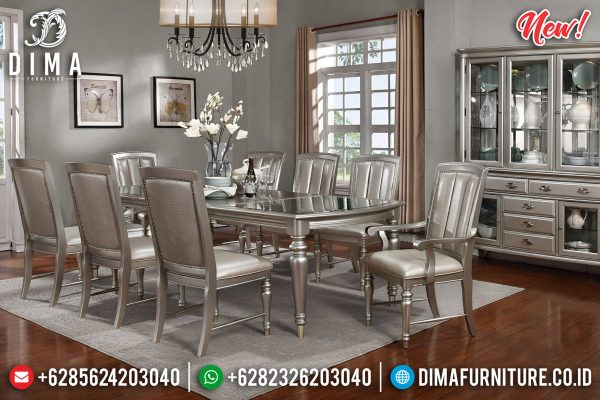 Great Meja Makan Minimalis Modern Luxury Champagne Color Mebel Jepara ST-1228