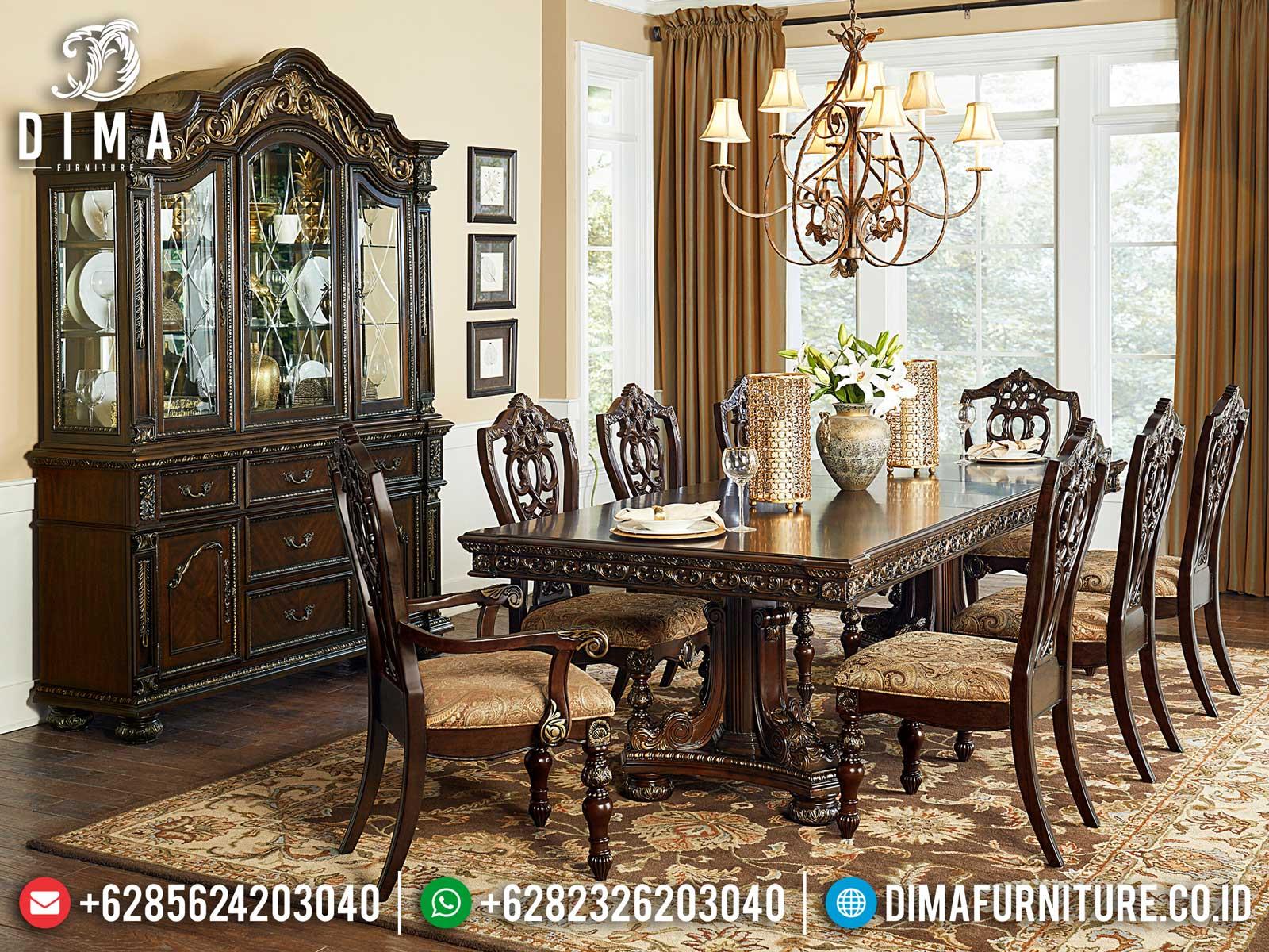 Harga Meja Makan Jepara Minimalis Classic Design Luxury Carving St-1239