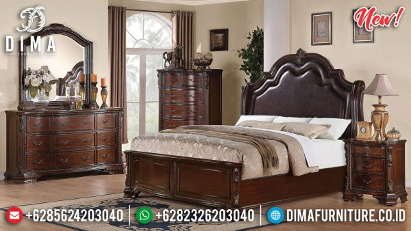 High Quality Kamar Set Minimalis Jati Natural Classic Jepara ST-1187