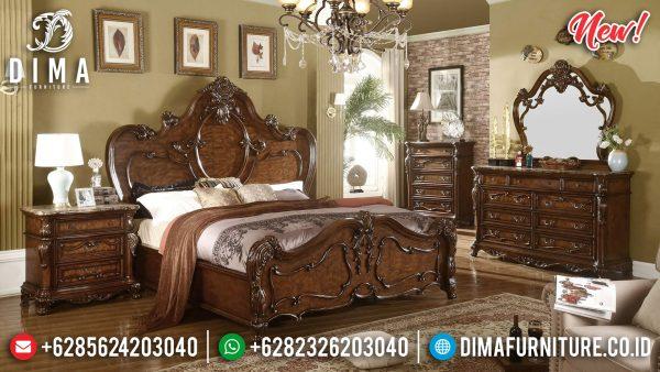Jual Kamar Set Mewah Jepara Natural Jati Salak Brown Luxury Classic ST-1175