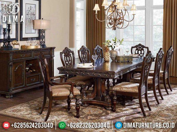 Jual Meja Makan Mewah, Kursi Meja Makan Jepara Terbaru Set Ruang Makan Luxury Design Glamorous ST-1261