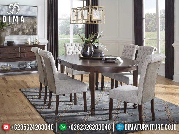 Jual Meja Makan Minimalis Kayu Jati Natural Perhutani Furniture Jepara Luxury ST-1204