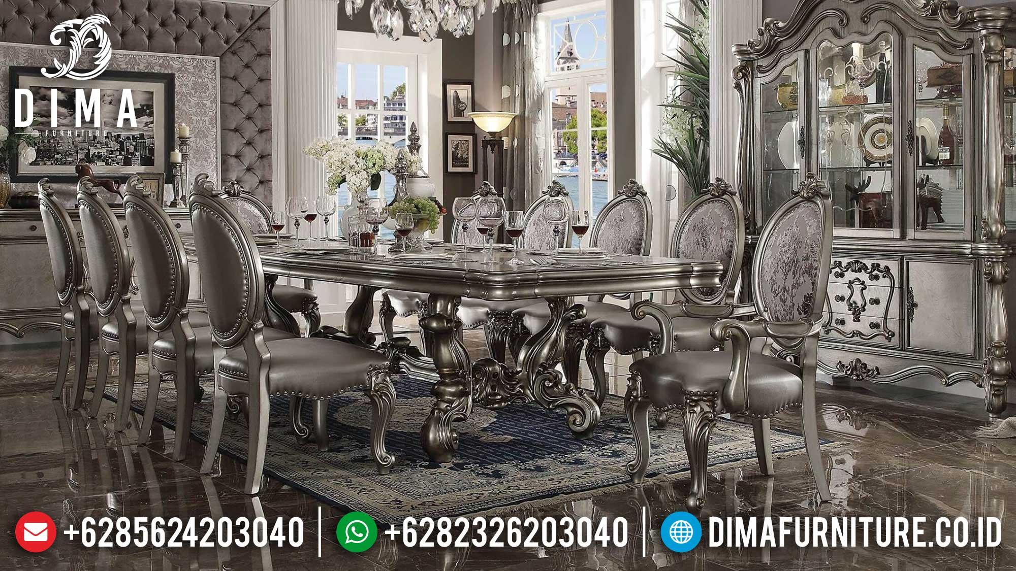 Kursi Makan Ukiran Set Meja Makan Mewah Jepara Luxury Premiere Design St-1254