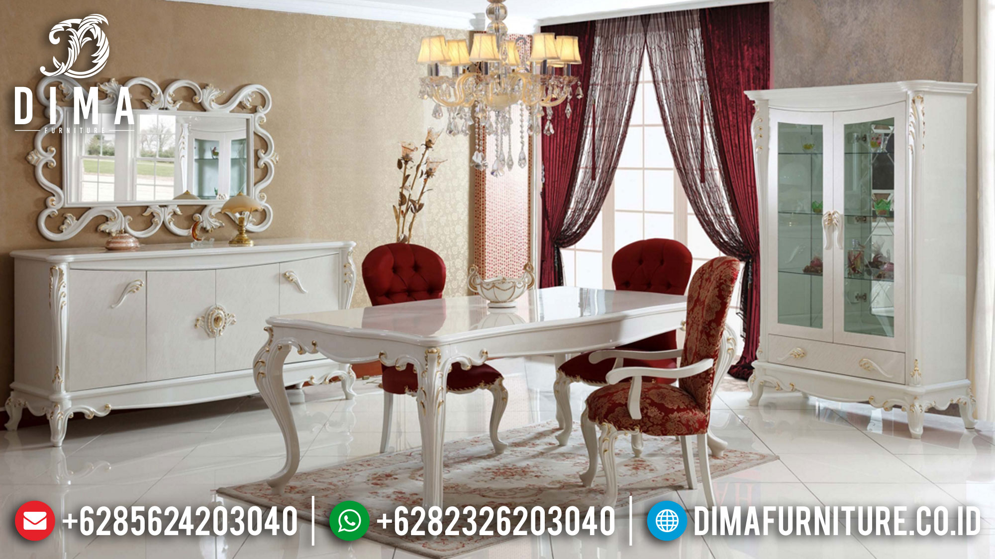 Meja Makan Jepara Luxury Simple Design High Quality Solid Wood St-1258