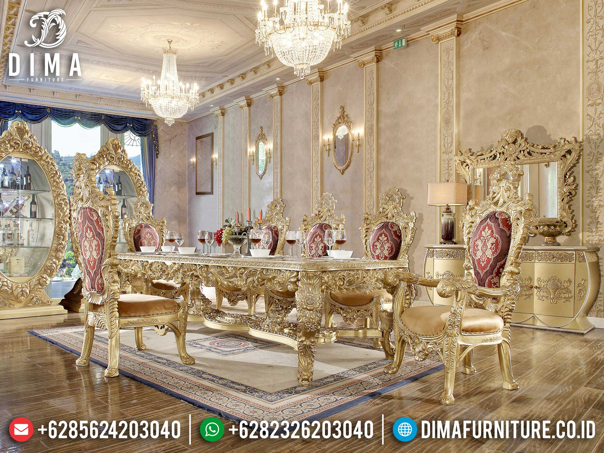 Meja Makan Mewah Classic Luxury Baroque Style Best Collection ST-1215