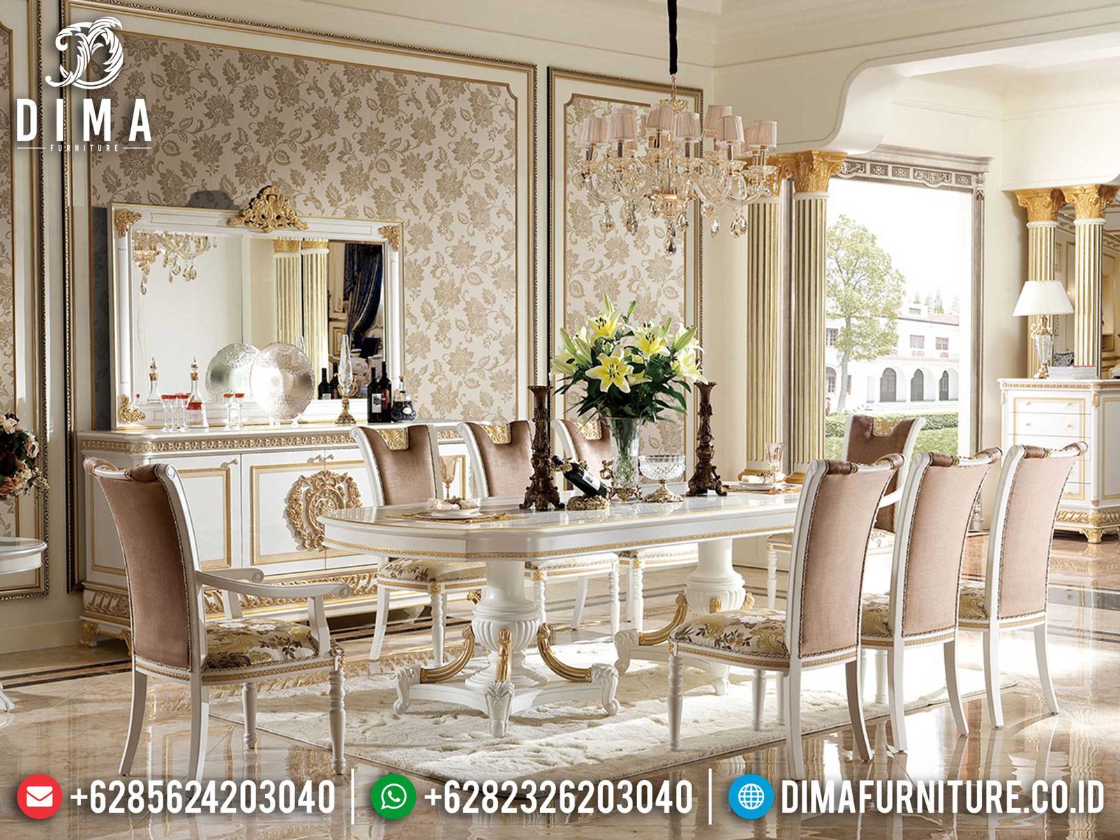 Meja Makan Mewah Terbaru Classic Design Luxury Mebel Jepara ST-1193