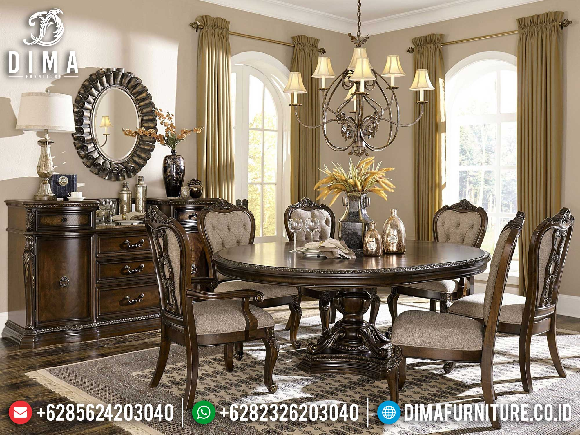 Meja Makan Minimalis Chloe High Class Design Quality Furniture Jepara ST-1236