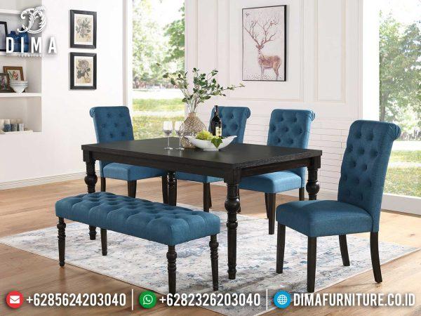 Meja Makan Minimalis Kursi 4 Simple Elegant Design Mebel Jepara ST-1238