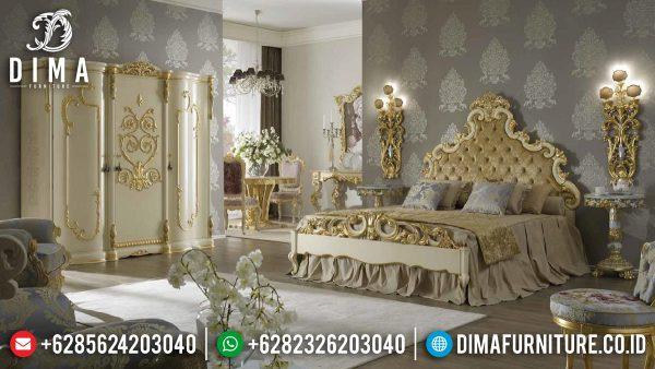 New Desain Tempat Tidur Mewah Ukiran Classic Luxury Princes Imperial Room Style ST-1172