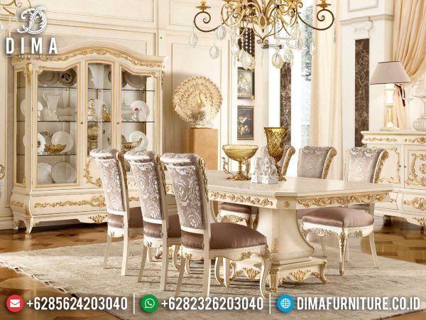 New Meja Makan Mewah Jepara Luxury Carving Premiere Dining Room Style ST-1216