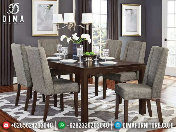 New Meja Makan Minimalis Jati Kursi 6 Natural Simple Design High Quality ST-1198