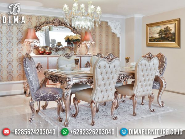 New Model Meja Makan Jepara Luxury Carving Mebel Classic Teristimewa ST-1242