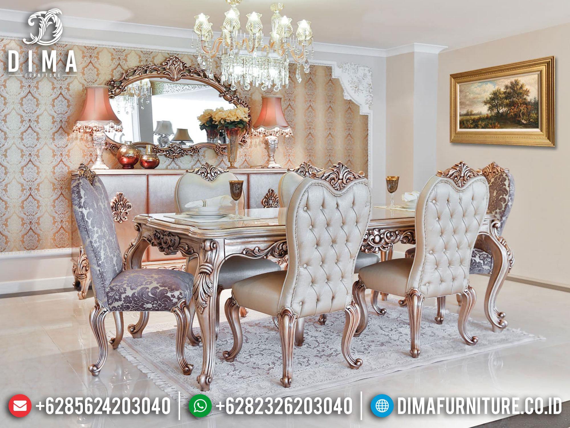 New Model Meja Makan Jepara Luxury Carving Mebel Classic Teristimewa ST-1242