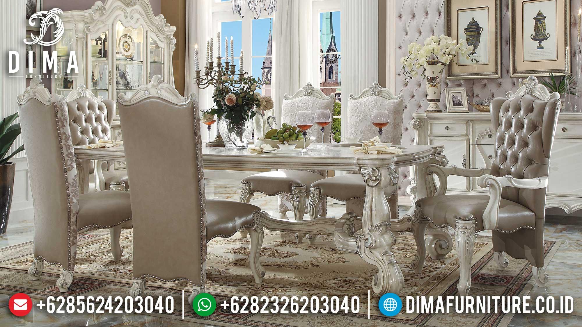 New Set Meja Makan Mewah Imperial Kingdom Majestic Luxury Classic Carving St-1247