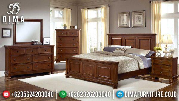 New Set Tempat Tidur Minimalis Jepara Natural Jati Jepara ST-1189
