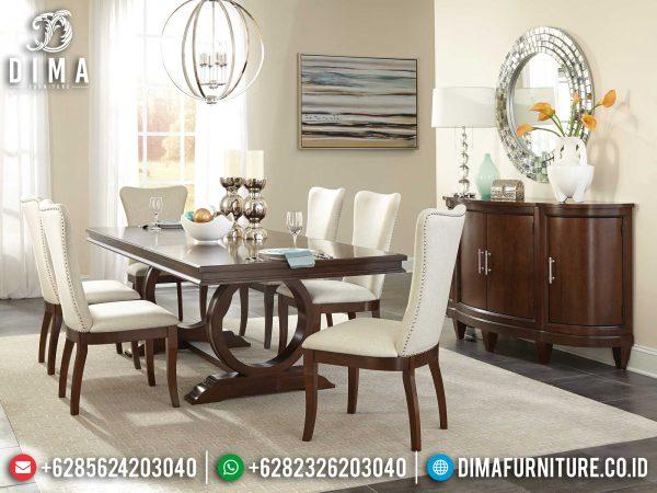 Order Now Meja Makan Minimalis Jati Natural Classic Jepara Terbaru ST-1203