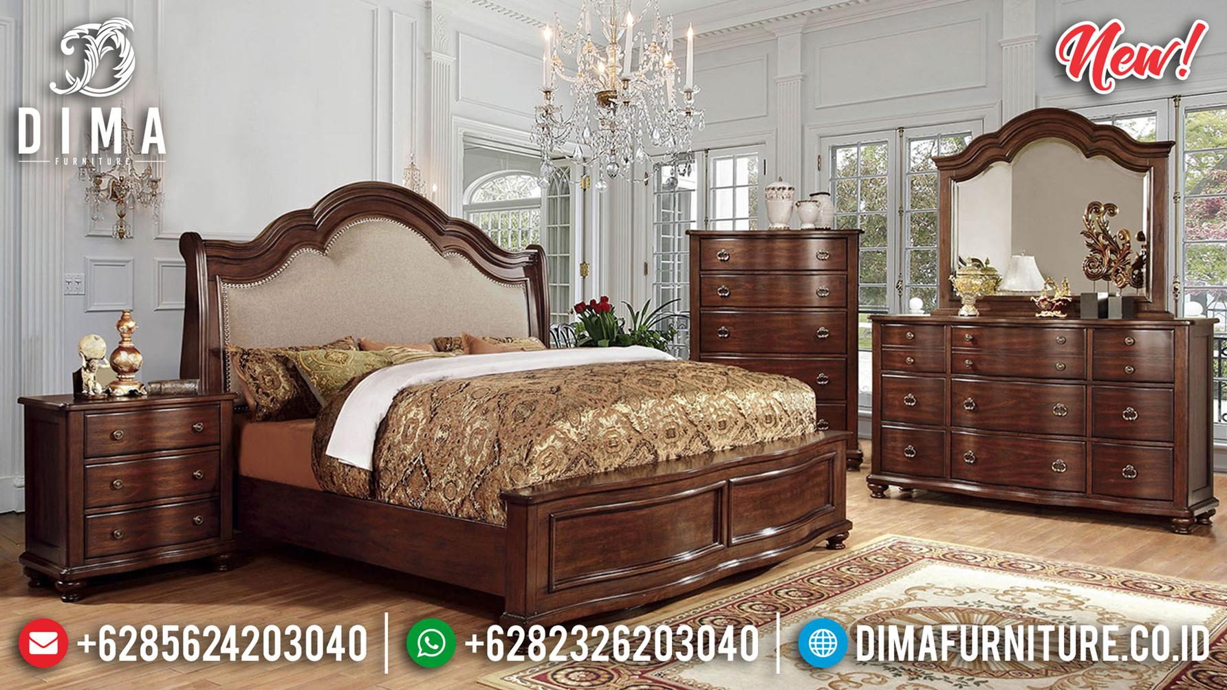 Queen Size Kamar Set Minimalis Terbaru Jati Natural Classic Perhutani ST-1188