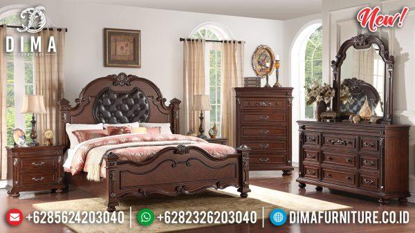 Tempat Tidur Mewah Classic Luxury Natural Jati Perhutani Jepara ST-1182