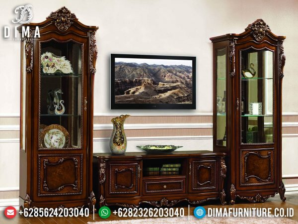 Beautiful set bufet tv jati mewah luxury carving classic italiansky ST-1399