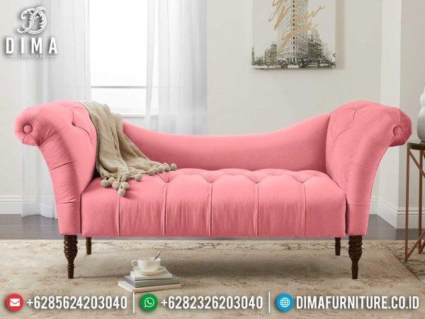 Beauty Style Sofa Tamu Minimalis 2 Dudukan Luxury Pinky Fabric Best Seller ST-1323