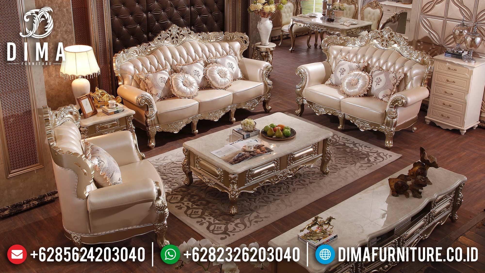 Big Sale Sofa Tamu Mewah Ukir Jepara Luxury Deluxe Carving Design ST-1351