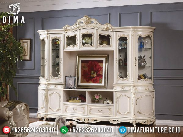 Classic Carving Meja TV Mewah Set Bufet TV Ukir Jepara Luxury Elegant Design ST-1400