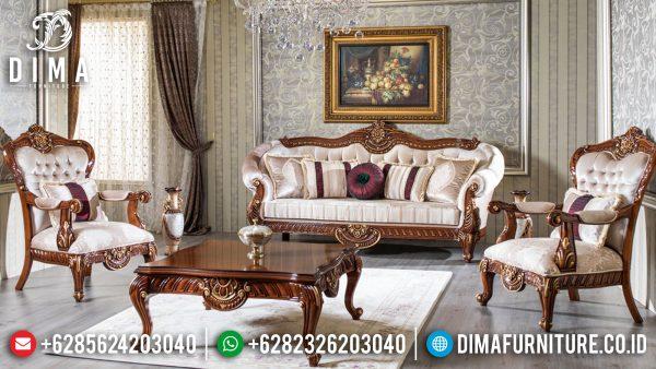 Desain Sofa Tamu Mewah Jepara Luxury Carving Classic Best Seller ST-1290