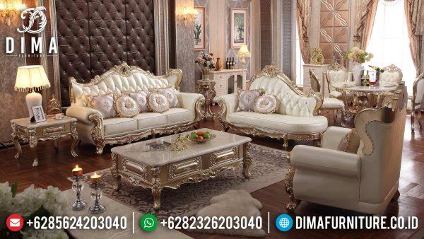 Desain Sofa Tamu Mewah Luxury 100 % High Quality Solid Wood Perhutani ST-1363